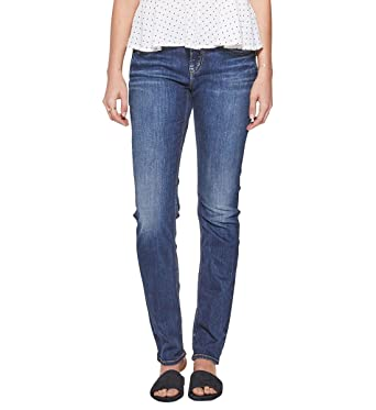 225662cb Silver Jeans Co. Women's Elyse Relaxed Fit Mid Rise Straight Leg Jeans,  Medium Dark