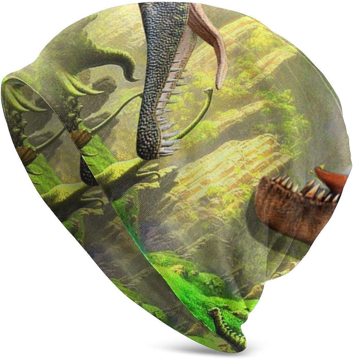 HHTZTCL Dinosaur Mens Womens Winter Beanies Knit Hat Stretch Skull Cap Black