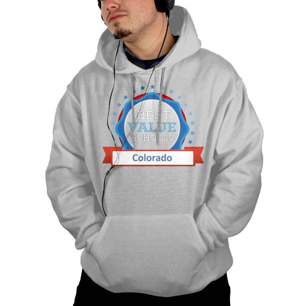 TAVJCFW Temperament Personalization Male Colorado Hoodie Black Winter