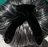 Pro Hair Bun Maker ~ Black Velvet. X-Large Former ~ Best for Thick and Long Hair. Fast ~ Fun ~ Easy and Comfortable, Create Sophisticated Elegance Styles. Professional Women, Men and Atheletes UNISEX