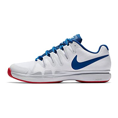 Nike Mens Zoom Vapor 9.5 Tour White/BlueJay/Red (8)