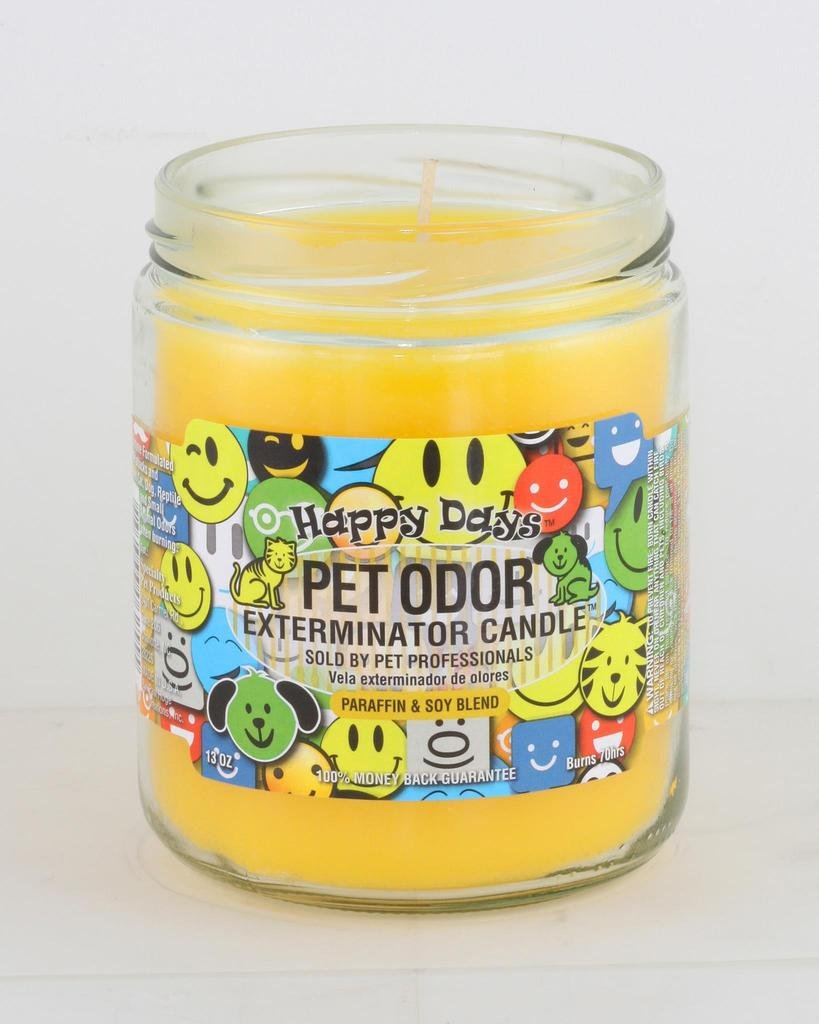 Specialty Pet Products Pet Odor Exterminator Candle, Happy Days,13 oz