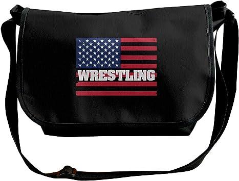 Adjustable Shoulder Strap Messenger Bag USA Wrestling 2 Unisex Backpack Shoulder Crossbody Bag