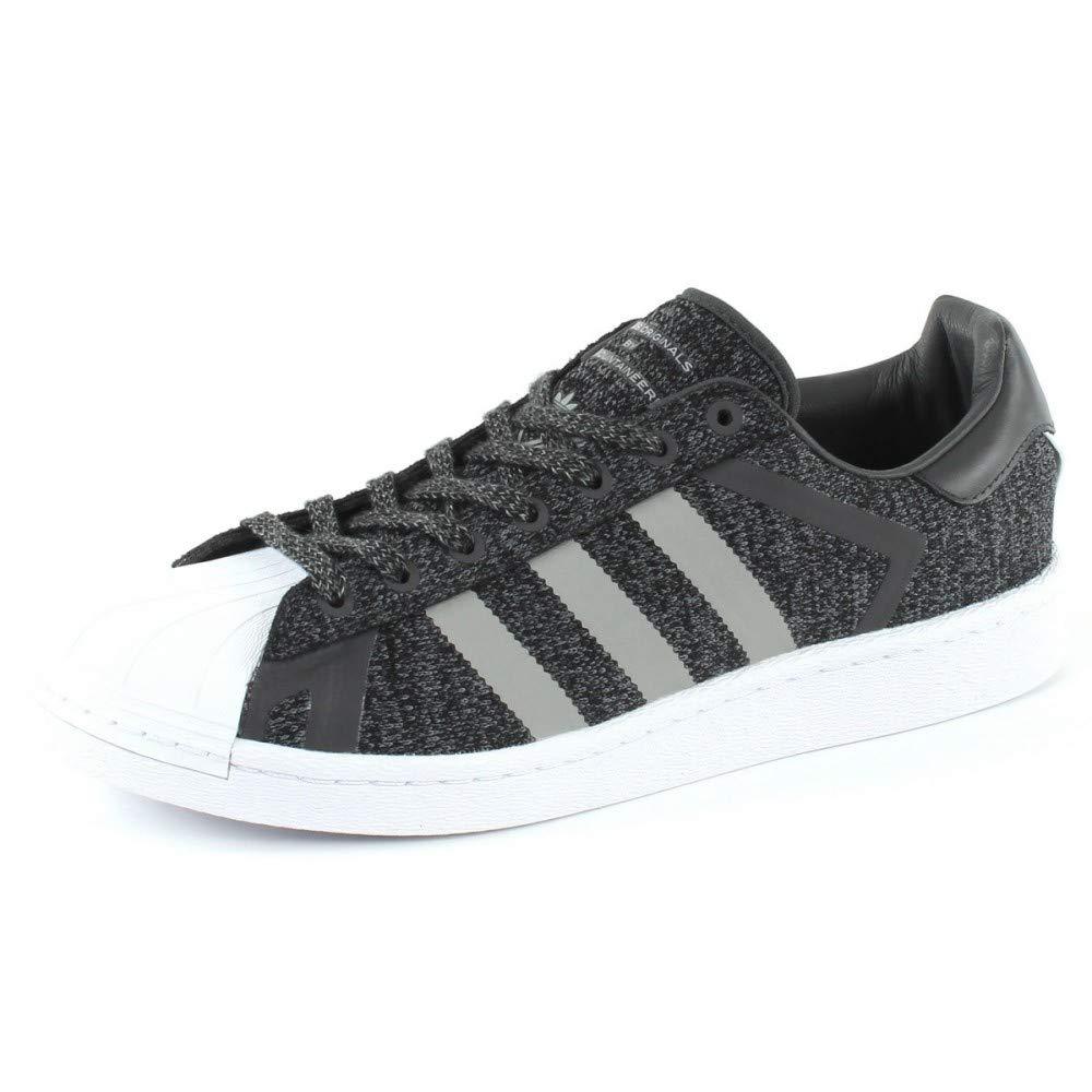 size 40 48dfd c0c0c Adidas Superstar WM, Scarpe da Fitness Uomo, Nero Nero Nero (Negbás Grpumg  Ftwbla 000), 44 EU e95d42