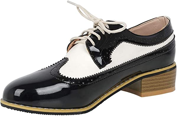 Caradise Womens Wingtip Lace Up
