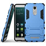 Nik Case Military Grade Defender Series Dual Protection Layer Hybrid TPU + PC Kickstand Case Cover for Redmi Xiaomi Note 4 (Rubber, Plastic) Sky Blue