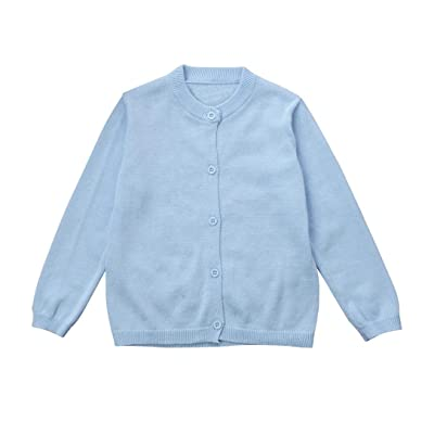 aliveGOT Toddler Kid Boys Girls Clothes Knitted Colorful Solid Sweater Cardigan Coat Tops