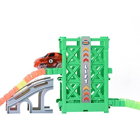 Amazon Com Ontopon Toy Track Accessory Lift With A Race Car