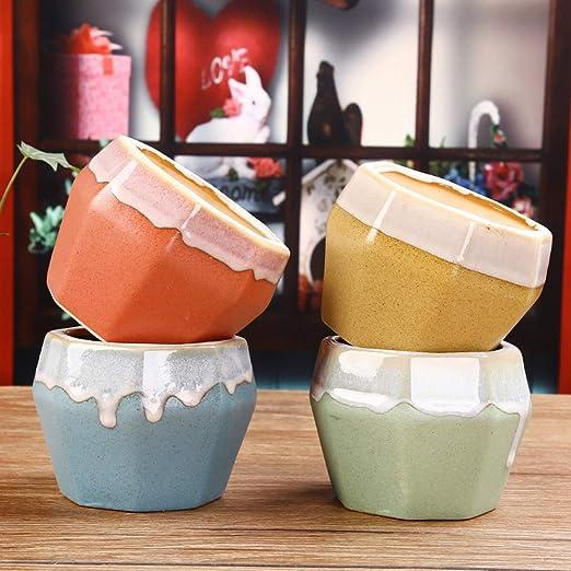 Better-way - Jarrón de cerámica esmaltado, moderno, decorativo ...