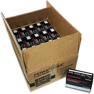 "product image for Powernail 20ga Divergent Point Staples, 1/2"" Crown, 5/16"" L(1 Case of 20-5,000 ct boxes)"