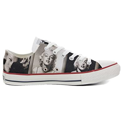 Converse All Star personalisierte Schuhe (Handwerk Produkt) Slim Marilyn Monroe