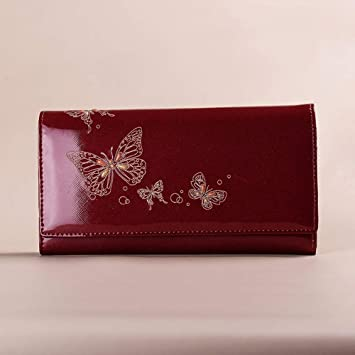 BJFYG Billetera De Mujer Cartera De Diseño para Mujer Patrón Carteras Y Monederos Largos para Mujer Señoras Clutch, A, Rojo: Amazon.es: Deportes y aire ...