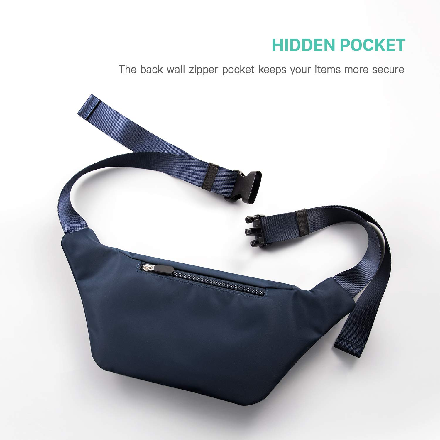 268e0482b860 FREETOO Fanny Pack Waist Pack for Women,with Large Capacity,Waterproof  Suitable for Shopping,Walking,Travel ...