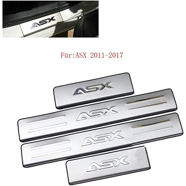 Placa de acero inoxidable para umbral de puerta para ASX RVR 2010-2016
