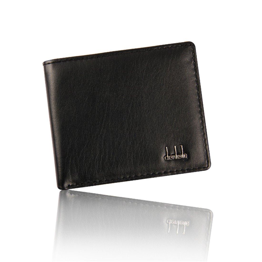 Hemlock Bifold Business Wallets, Men Leather Wallet Credit Card Holder Pocket Purse (Black) by Hemlock (Image #1)