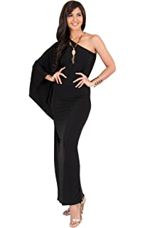 61b177da9f5 KOH KOH Womens Long Sexy One Shoulder Evening Cocktail Semi Formal Maxi  Dress