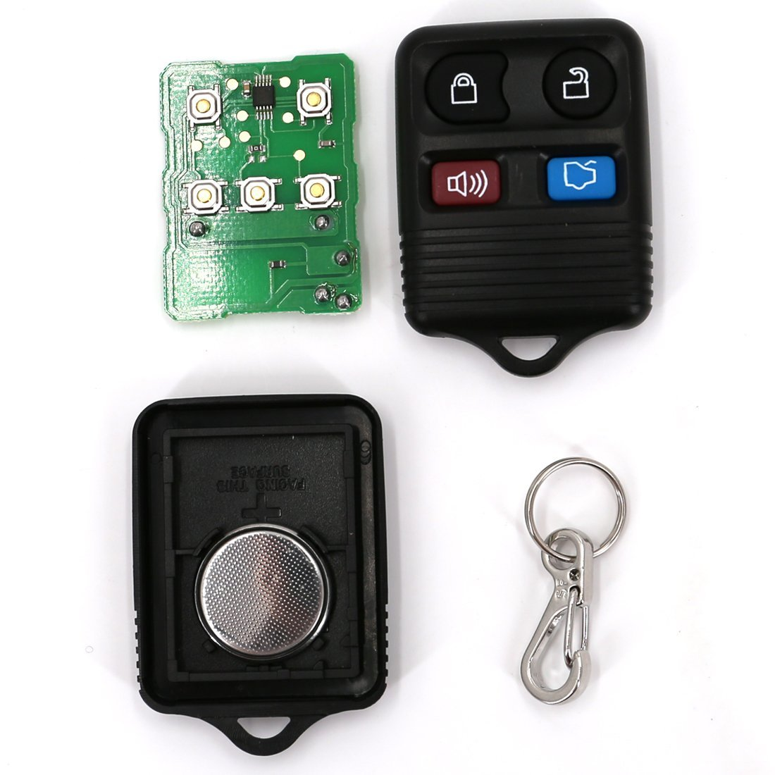 UTSAUTO Replacement Keyless Entry Shell 1 Pack Remote Control Ford Lincoln Mercury Key Fob Clicker Transmitter 4 Button