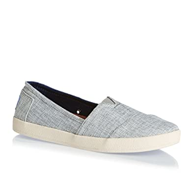 b9b1da49e0a6 TOMS Women s Avalon Woven Lurex Drizzle Grey Ankle-High Fabric Flat Shoe -  6M