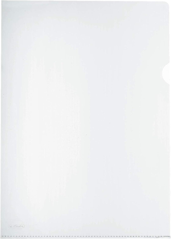 genarbt 2X 20 St/ück, transparent farbig Sortiert A4 Herlitz 11420254 Aktenh/ülle