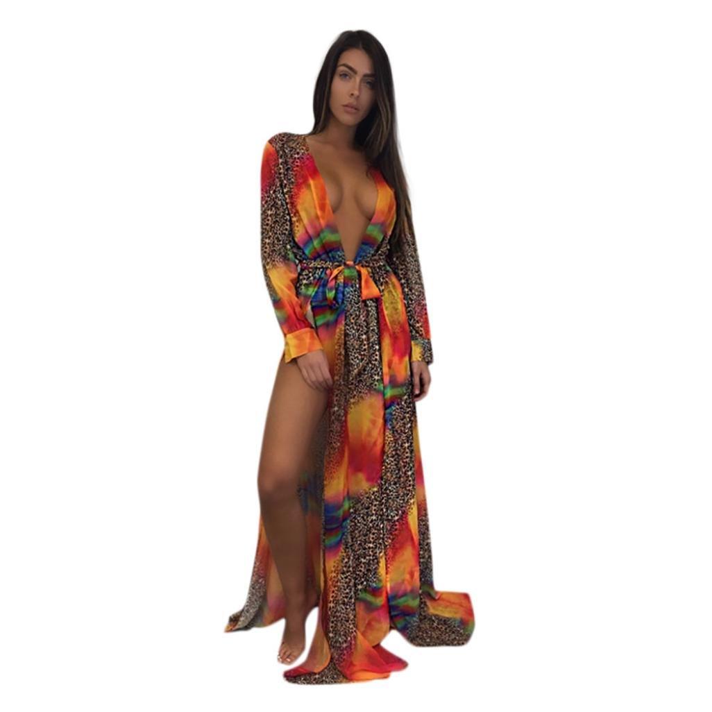 d659b881f3 Easytoy Womens Bikini Cover up Swimwear Beach Maxi Wrap Skirt Sarong Kimono  Kaftan Dress at Amazon Women's Clothing store:
