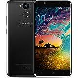 """Smartphone in Offerta, Blackview P2 Lite Dual SIM Cellulare da 5.5"""" FHD, Grande Batteria 6000mAh Offerte Cellulari, Doppia Fotocamera da 13MP + 8MP, 3GB RAM, 32GB ROM, Android 7.0, Octa-Core, 4G, OTG, Fingerprient, Nero [Italia]"""