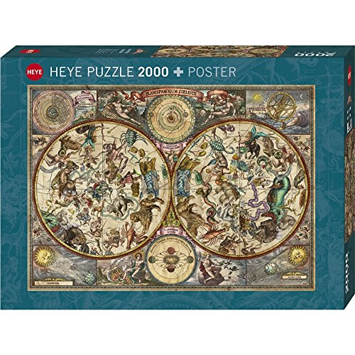 Old world map jigsaw puzzle jigsaw puzzles for adults heye vintage world 2000 piece jigsaw puzzle heye celestial map 2000 piece jigsaw puzzle gumiabroncs Choice Image