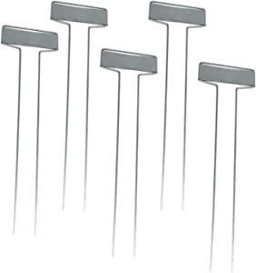 ZZHH New 25Pcs Metal Plant Labels Garden Markers Tags T Type Plant Tags Markers Set (L,Silver)