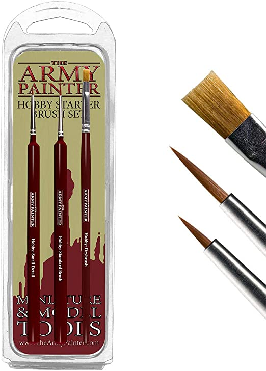 model painting brushes warhammer airfix Army painter etc tri-grip comfort feel