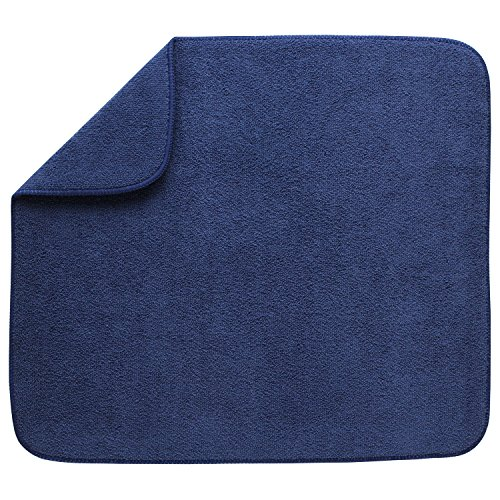 Kitchen Basics 594301 Reversible Dish Drying Mat, Large, Blu