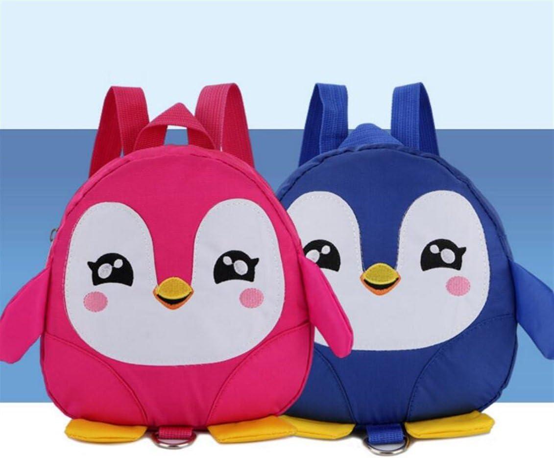 Blue Easyflower Lovely Backpack Gift Childrens Schoolbag Cartoon Penguin Shape Kindergarten Toy Backpack