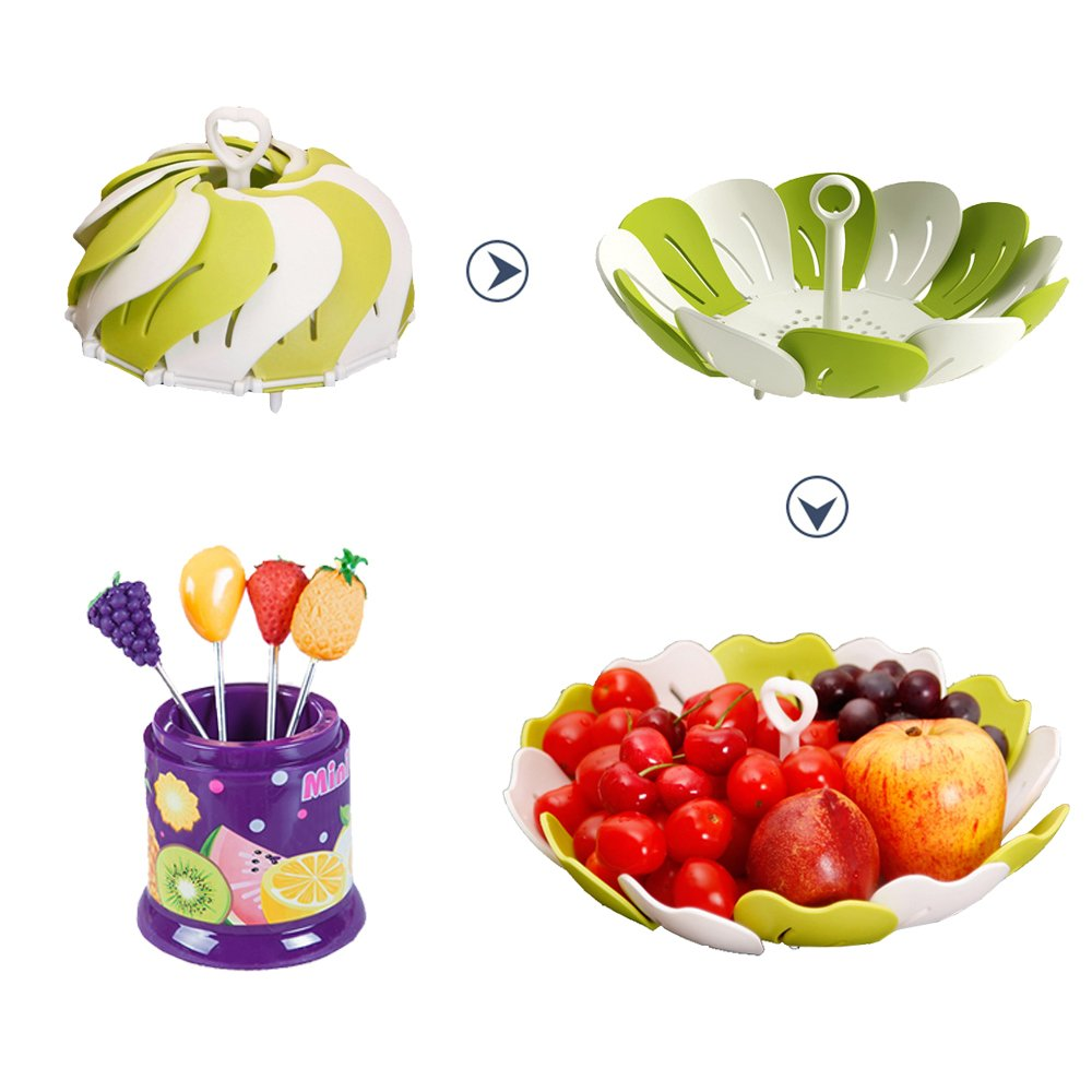 Amazon.com | Premium Designer Fruit Bowl U0026 Candy Dish Is The Ultimate  Tray/Platter U0026 Plate, FREE 6 Stainless Steel Forks Included, Awesome Fruit  Basket For ...