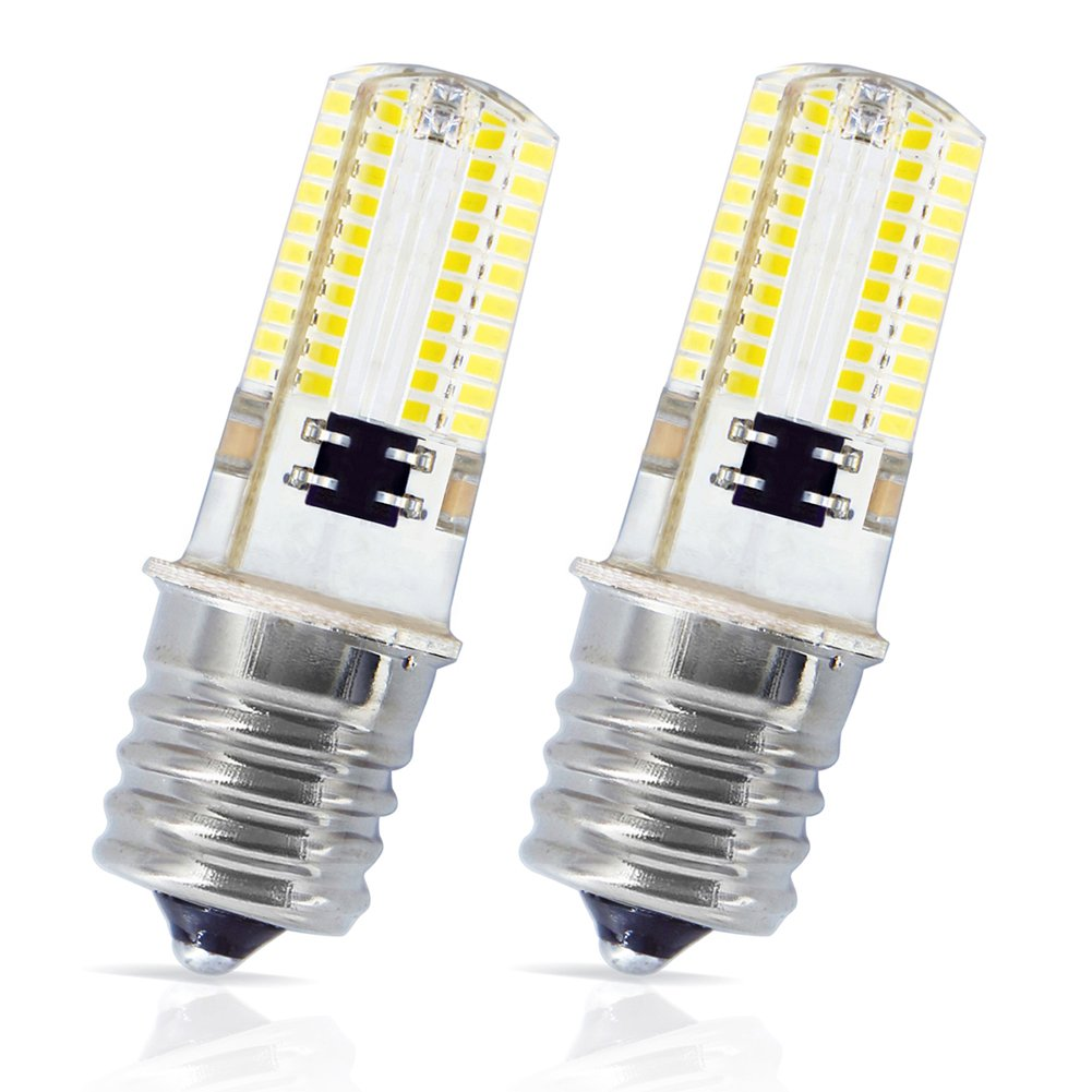 LudoPam E17 LED Bulb Microwave Oven Appliance Light 4W Warm White 3000K AC 110V 120V Intermediate Base Replacement 35W Halogen Bulbs Lamp Pack of 2