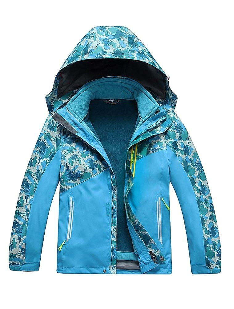 Mallimoda Boy's Girl's Waterproof Fleece Ski Jacket Windproof Outdoor Coat CA-MaXT118