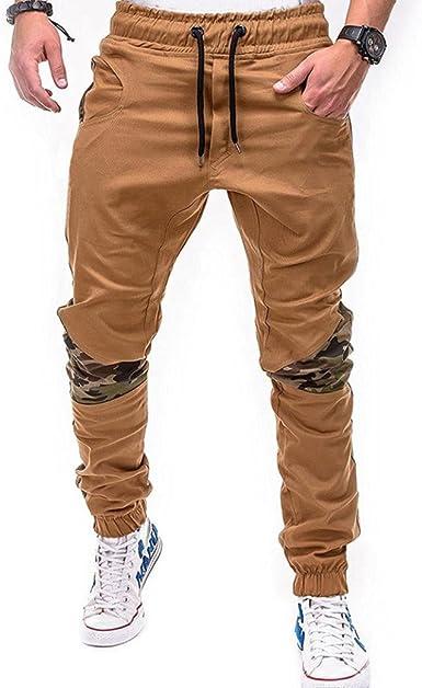 Hombre Pantalones Largos, ZARLLE Moda De Deporte Camuflaje ...