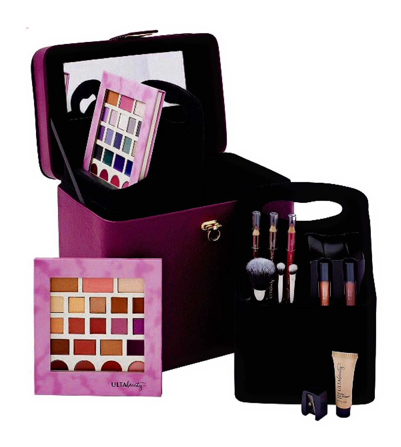 Ulta Beauty Makeup Set Make Today Pretty 52 Piece Collection Berry Train Case Overnighter