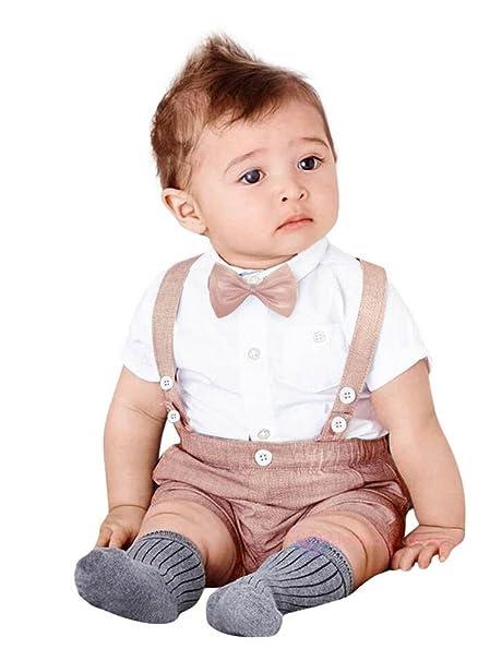 ARAUS Niños Bebé Trajes de Bautizo Camisa Bow Tie Top + ...
