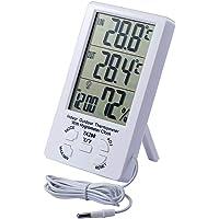 JZK Termómetro higrómetro LCD Digital Cable Sensor 1.5 m Interior higrómetro Exterior termómetro Humedad medidor…
