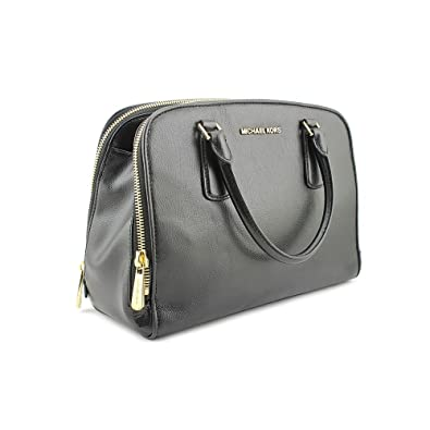 72bb7e133b71a9 Amazon.com: Michael Kors Large Reese Satchel Black Leather: Shoes