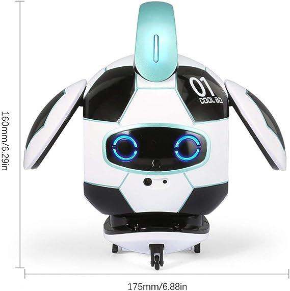 Noradtjcca AI Robotic Companion Robot Inteligente Bailando Gestos Cantando sensando grabación Robot Juguetes Niños: Amazon.es: Hogar