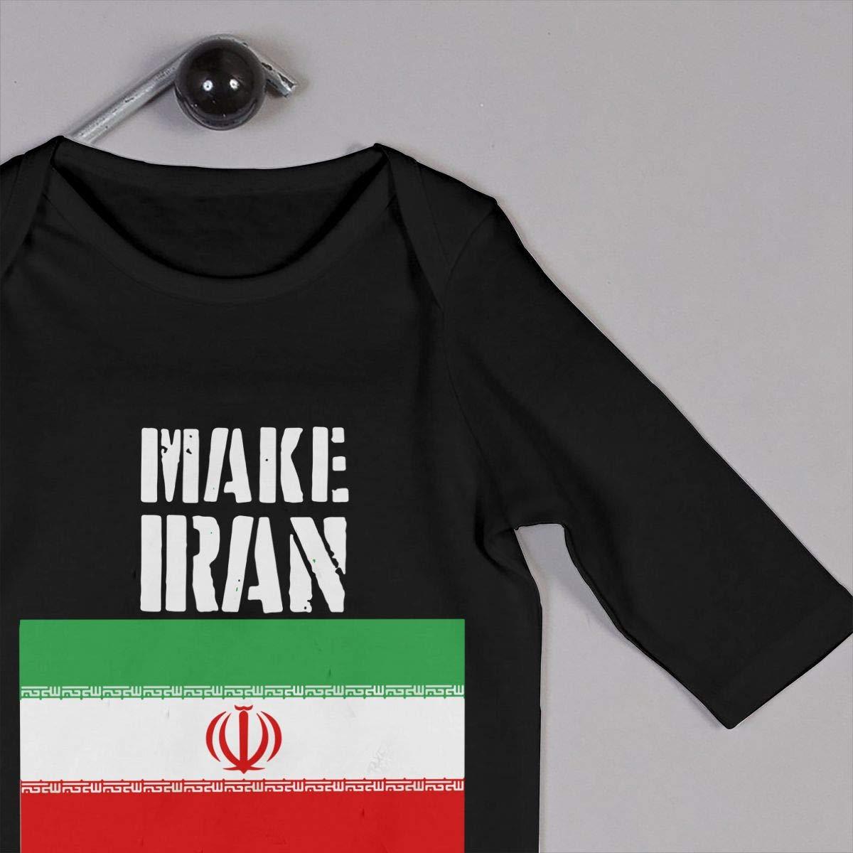 UGFGF-S3 Make Iran Great Again Baby Boy Long Sleeve Romper Jumpsuit Organic Coverall