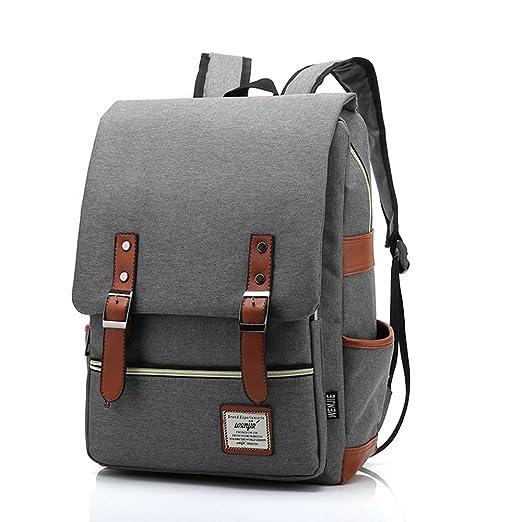 12 opinioni per 17inch Casual Unisex Waterproof Oxford School Backpack Rucksack (Gray)