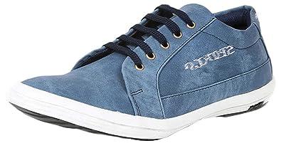 efb2f665357 BLACK MACY Men's Sea Blue Synthetic Casual Shoes