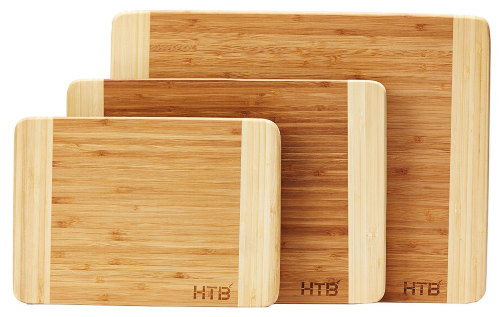 HTB 100% Bamboo Cutting Board,Thick Bamboo For Food Prep, Making Cocktails or Serving Appetizers 03L by HTB (Image #5)