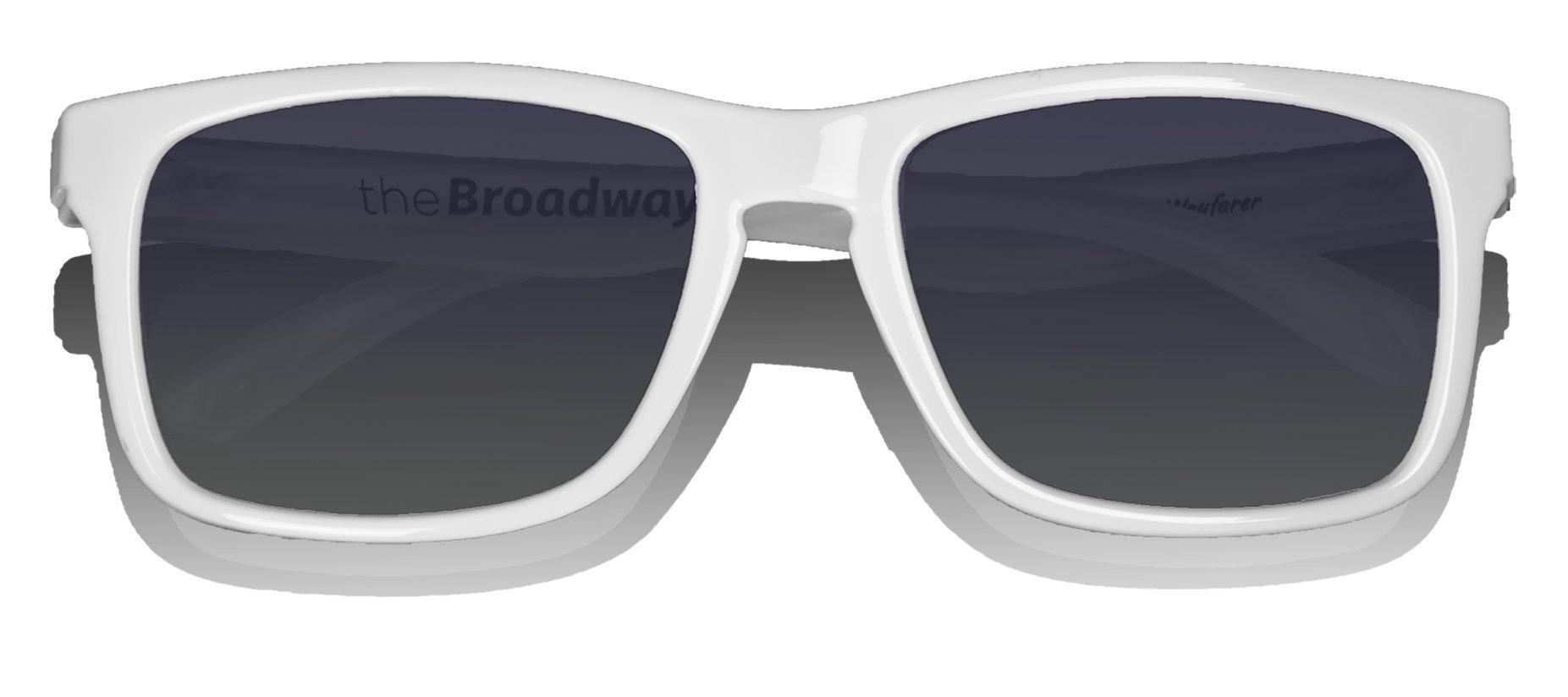 Floating Sunglasses - Polarized Floatable Wayfarer Shades by KZ Gear - 100% UV400 Lenses - KZ Shades that Float - Modern Floatable Style (Glossy White Frame - Gradient Black Lens)