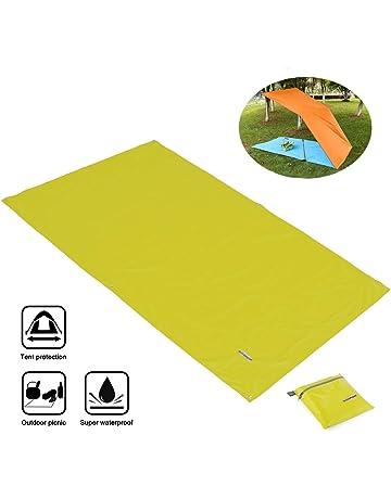 Overmont Toldo Estera Alfombrilla Manta Impermeable Plegable de Lona para Tienda de campaña Camping Picnic Playa
