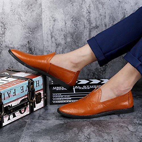 Para Comerciales Oficiales r De Darkbrown Regalos Ocasionales Los Los Zapatos De Zapatos Los Hombres Clásicos Cuero De Hombres Yr 7HPxqP