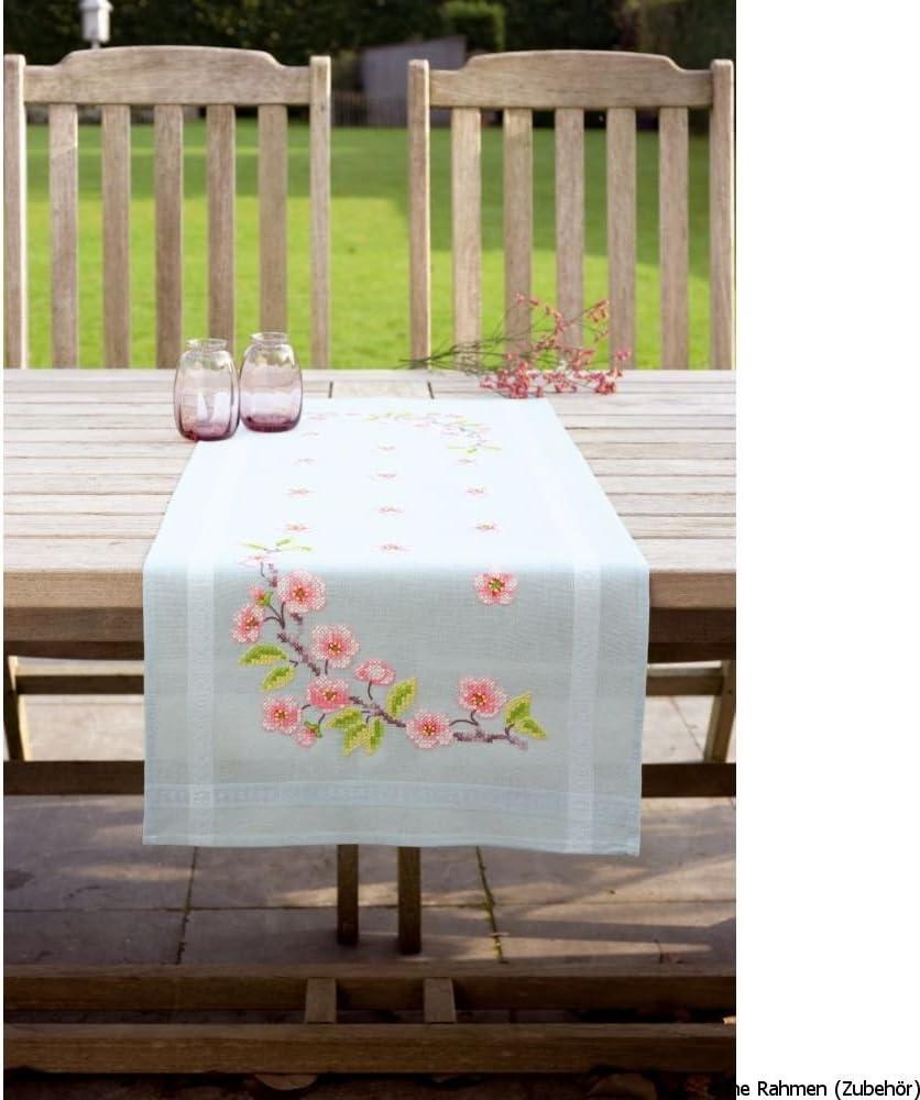 Mehrfarbig Baumwolle Vervaco Tischl/äufer Herbst Stickpackung//L/äufer im vorgedruckten//vorgezeichneten Kreuzstich 40 x 100 x 0.3 cm