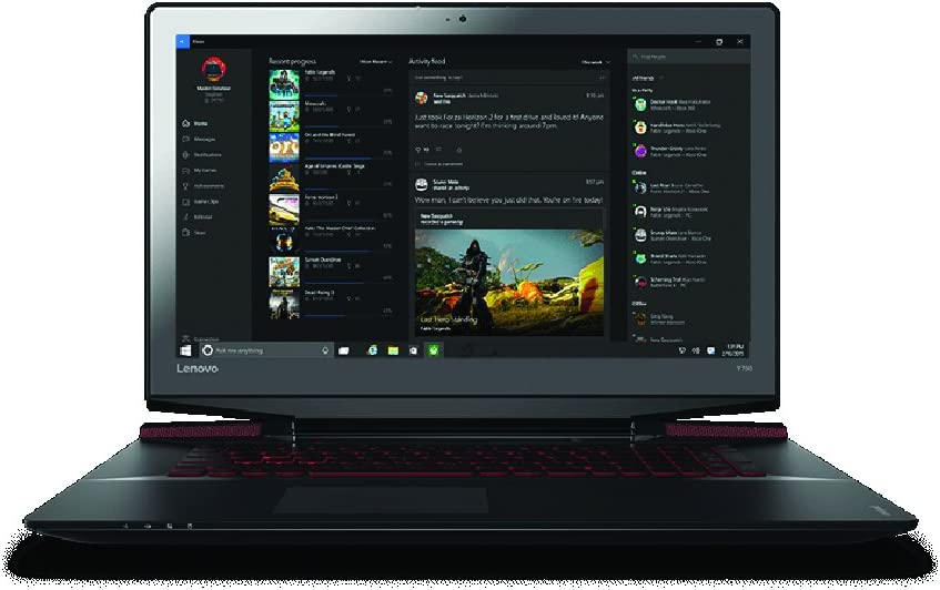 "Lenovo ideaPad Y700 17.3"" Full HD Gaming Notebook Computer, Intel Core i7-6700HQ 2.6GHz, 16GB RAM, 1TB HDD + 128GB SSD, NVIDIA GeForce GTX 960M GDDR5 4GB, Windows 10, Black"