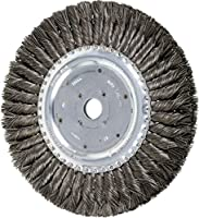 "PFERD 81698 Standard Twist Knot Wheel Brush, Carbon Steel Wire, 8"" Diameter, 3/4"" Arbor Hole, 0.014 Wire Size, 1-5/8"" Trim Length, 5/8"" Face Width, 7000 rpm"