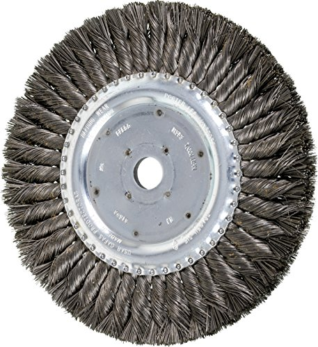 PFERD 81698 Standard Twist Knot Wheel Brush, Carbon Steel Wire, 8